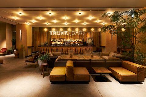 「trunk hotel」のラウンジ