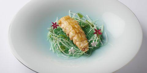 静岡産赤座海老 タピオカ リンゴと胡瓜