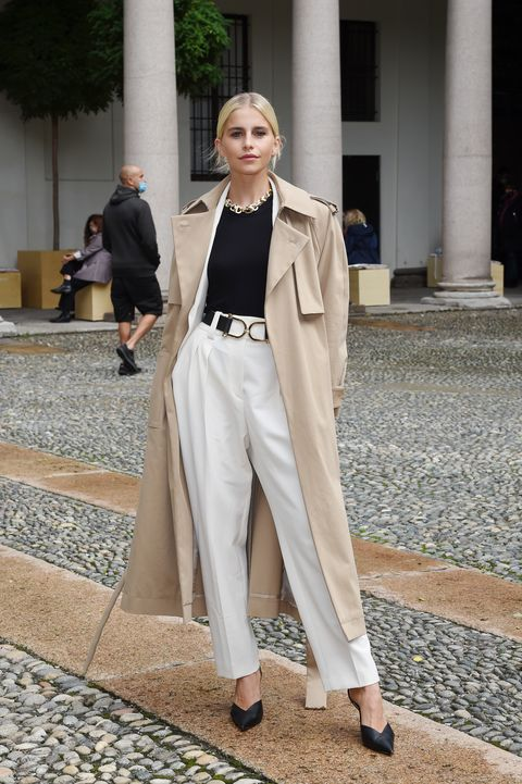milan, italy   september 25 caro daur attends the boss fashion show during the milan fashion week springsummer 2021 on september 25, 2020 in milan, italy photo by stefania m dalessandrogetty images for hugoboss
