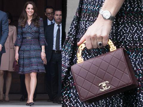 シャネルのバッグを持つキャサリン妃