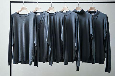 セーター, スレートグレー, グレー, ネイビー, ニット, アイテム, ファッション, メンクラ
