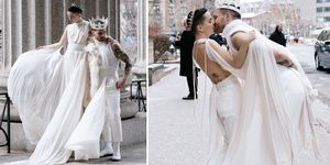 Nico Tortorella,Bethany Meyers ,跨性別婚紗,婚禮造型,另類婚禮