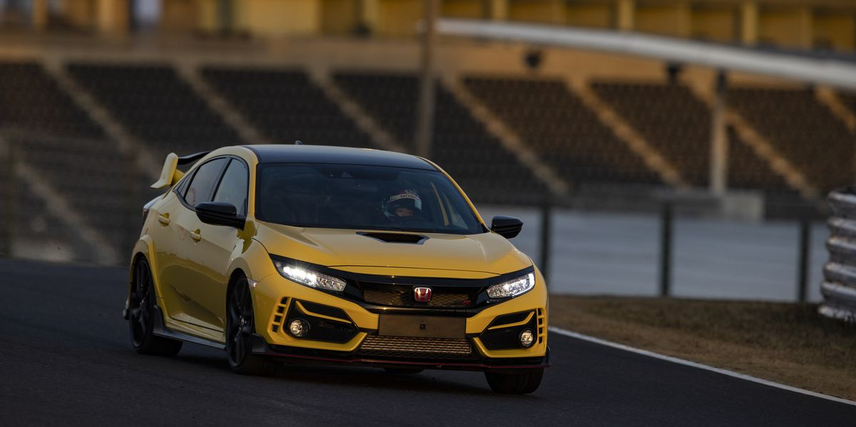 Watch a 2021 Honda Civic Type R Limited Edition Set a FWD Record at Suzuka
