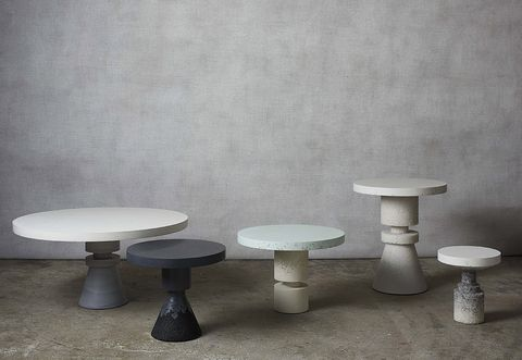 Table, Stool, Furniture, Wall, Bar stool, Marble, Coffee table, Material property, Architecture, Concrete,