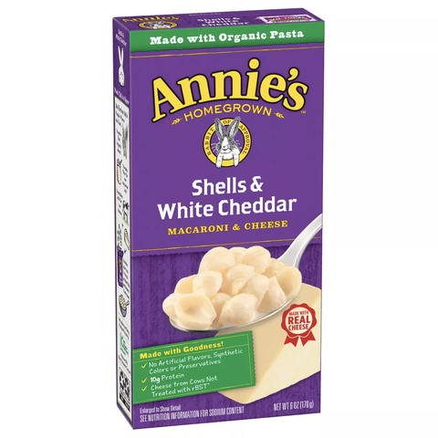 annie's shells and white cheddar mac and cheese
