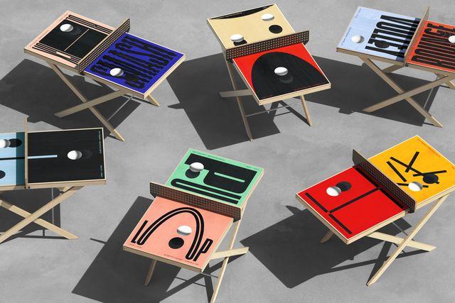 i tavoli da gioco di campbell hay e art of ping pong