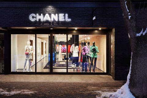 The Chanel boutique in Aspen.