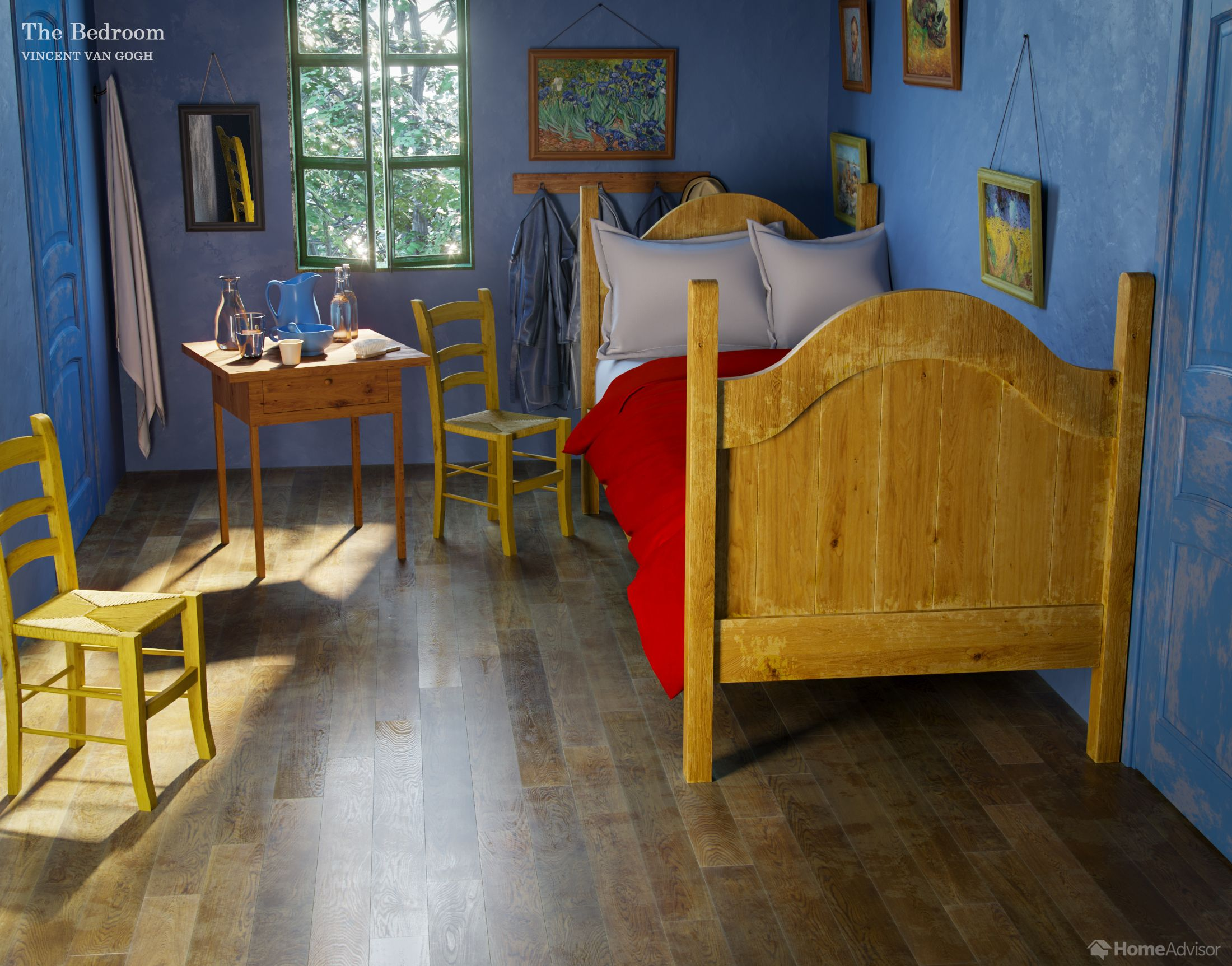 This is what Vincent Van Gogh's 'The Bedroom' painting would look like in real life