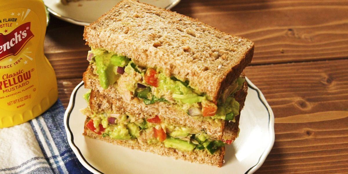 This Avocado Tuna Sandwich Is A Creamy, Crunchy Dream