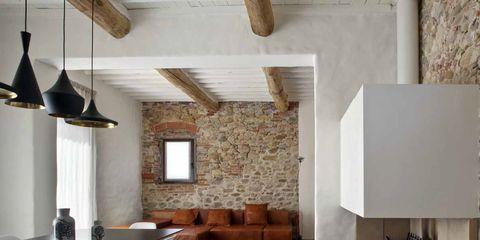 Room, Interior design, Property, Wall, Building, Furniture, Ceiling, House, Living room, Loft,