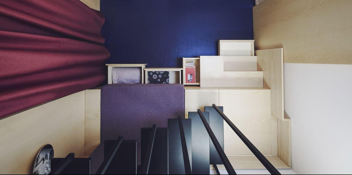 La mini casa di 14 metri quadri a milano ristrutturata da nonestudio - Calcolare metri quadri casa ...