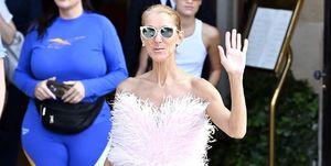 Celine Dion asymmetrische jeans