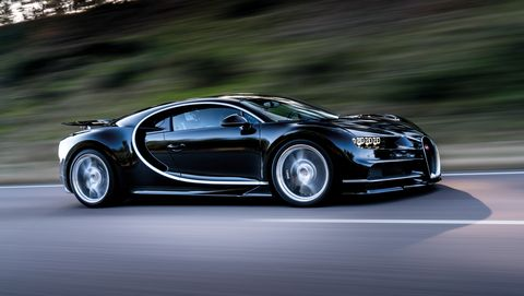 Bugatti Chiron front 3-4 on road