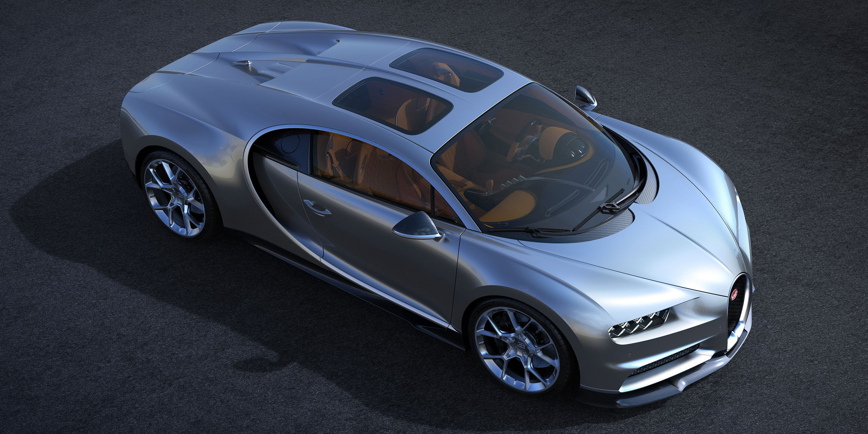 bugatti made fancy glass roof panels for the chiron