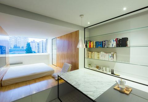 Room, Interior design, Lighting, Bed, Wall, Floor, Ceiling, Linens, Bedroom, Interior design,