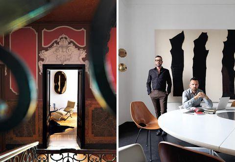 Table, Furniture, Interior design, Chair, Picture frame, Interior design, Conference room table, Collaboration,