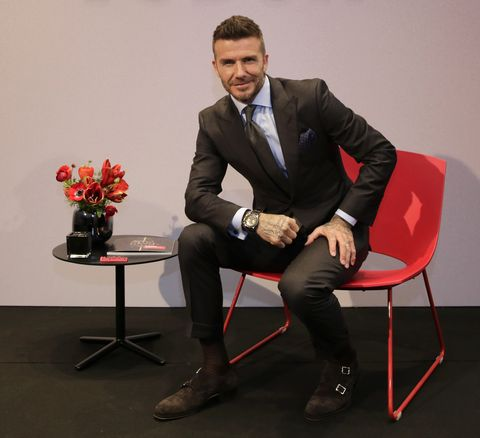David Beckham en Madrid durante la presentación de Tudor