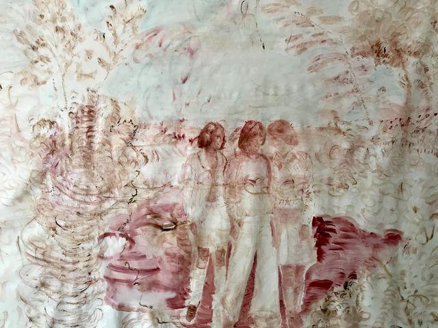 elisa filomena eden, arte roma, casa vuota roma, installazione sitespecific, pittura, paradiso donne