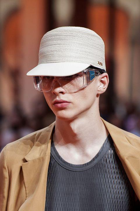 Eyewear, Clothing, Sunglasses, Hat, Glasses, Street fashion, Fashion, Cool, Lip, Cap,