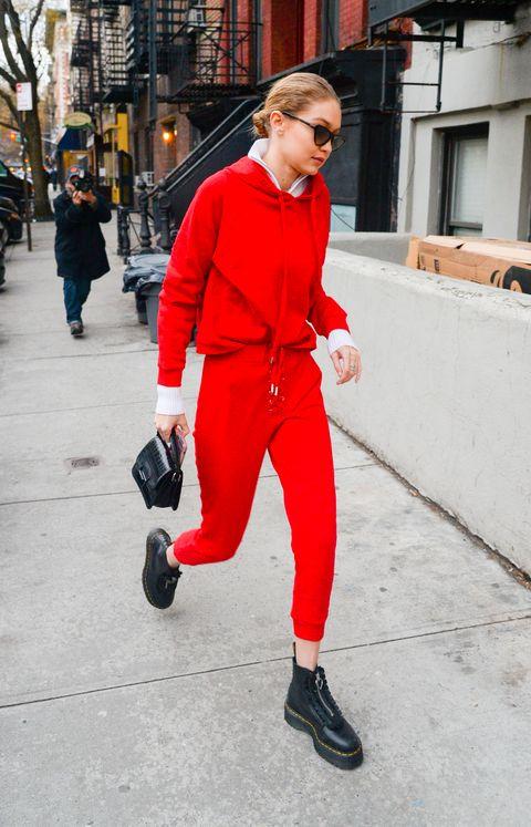 時尚潮人,霸氣,紅色,穿搭術,街拍