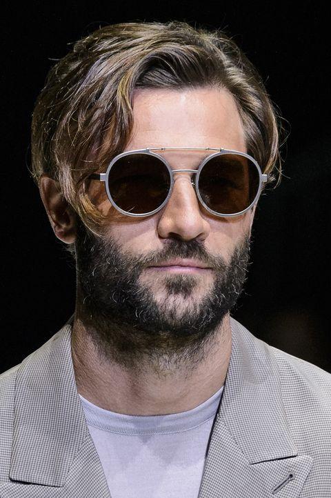 Eyewear, Hair, Facial hair, Sunglasses, Beard, Face, Cool, Moustache, Glasses, Chin,