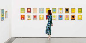 Yana Peel photographed at the Serpentine Galleries for Bazaar Art