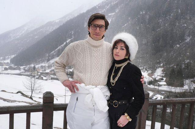 lady gaga e adam river sul set di house of gucci