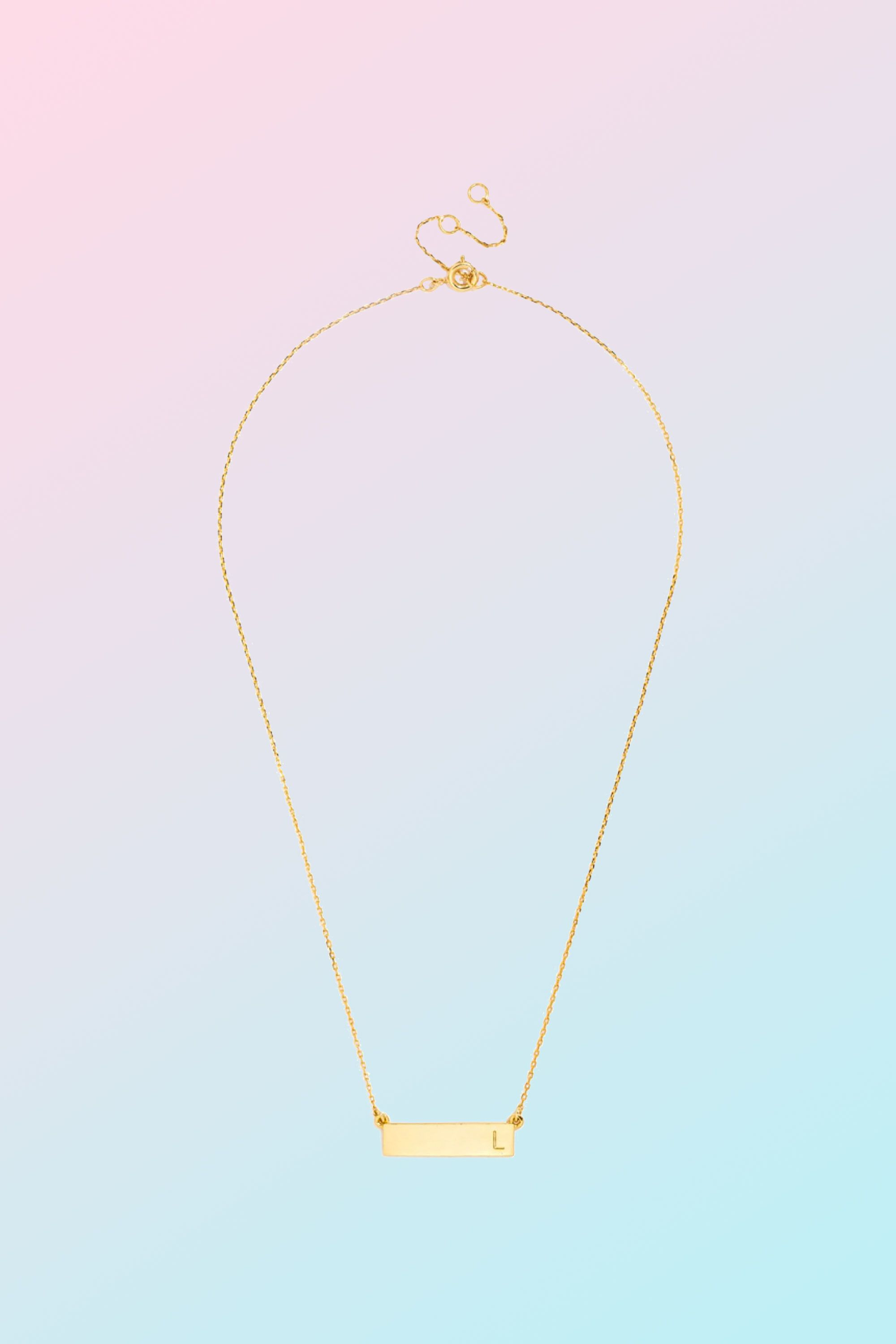 Gifts for the fashionista - Initial Bar Pendant