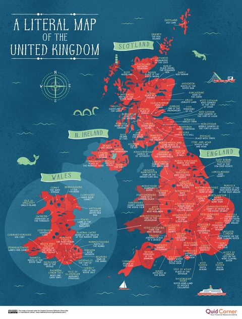 This Series Of Brilliant Maps Reveals The Literal Meaning Of ...