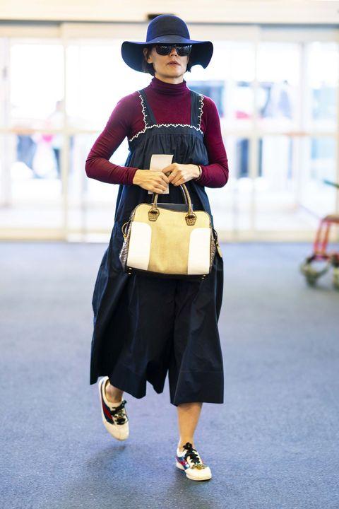 Street fashion, Clothing, Fashion, Footwear, Headgear, Dress, Outerwear, Shoe, Fashion accessory, Costume,