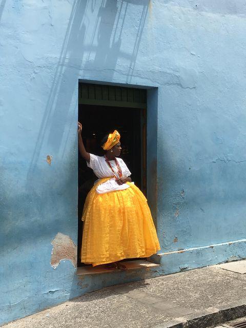 Yellow, Snapshot, Dress, Photography, Door,