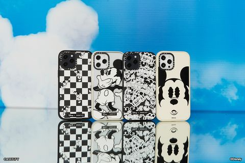 迪士尼  casetify 推出「米奇手機殼、airpods保護套」等低調黑白配件