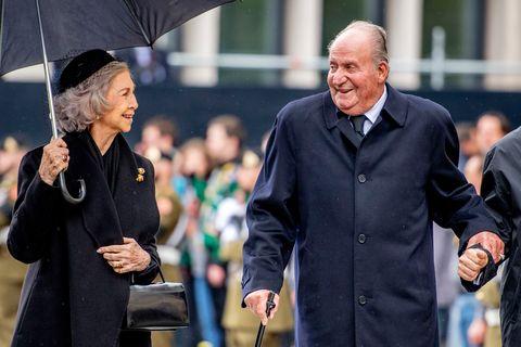 Don Juan Carlos y Sofía en el funeral del Gran Duque Juan de Luxemburgo