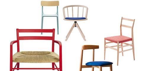 Sedie in legno colorate: come abbinarle all\'arredamento