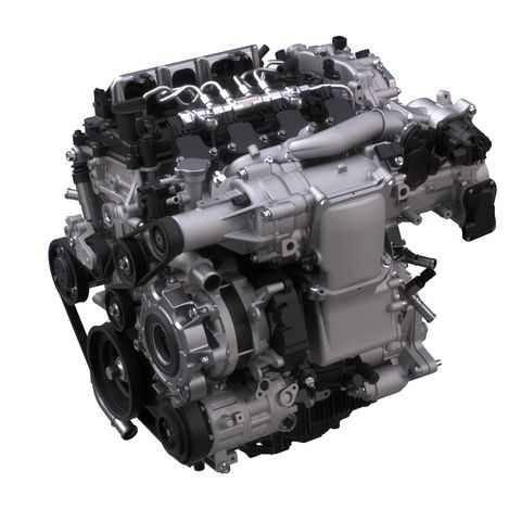 Mazda Skyactiv X Prototype Engine