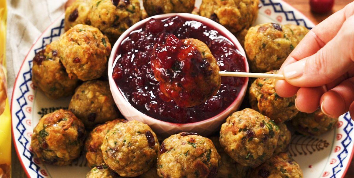 Turkey & Stuffing Meatballs