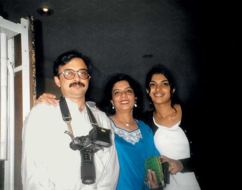 vimal mamu my maternal uncle, my mother, and me in 1998, when she traveled to newton, massachusetts, to bring me home