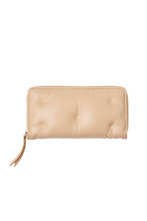 Beige, Leather, Wallet, Bag, Brown, Handbag, Tan, Fashion accessory, Rectangle, Coin purse,