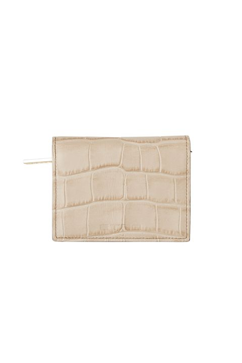 Beige, Wallet, Tan, Rectangle, Fashion accessory, Leather, Coin purse,