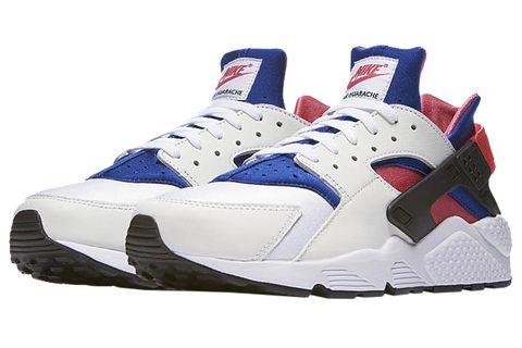Shoe, Footwear, White, Sneakers, Blue, Outdoor shoe, Basketball shoe, Sportswear, Electric blue, Carmine,