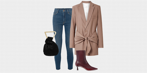 Clothing, Footwear, Brown, Boot, Outerwear, Riding boot, Fashion, Jeans, Shoe, Beige,
