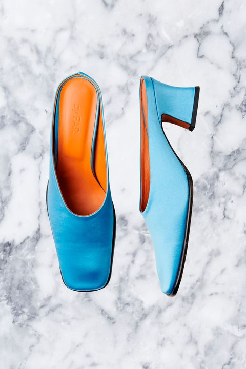 Footwear, Blue, Aqua, Orange, Turquoise, Shoe, Teal, High heels, Electric blue, Azure,
