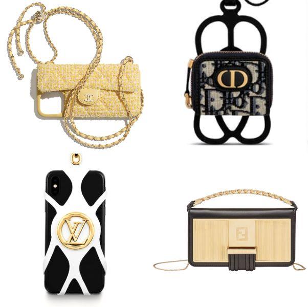 黃色的香奈兒手機殼、lv黑色手機殼、黑色dior老花手機殼、黃色fendi手機殼