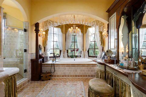 medieval style bathroom