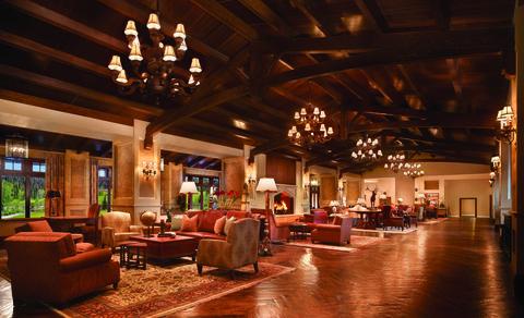 Lobby, Building, Room, Interior design, Living room, Ceiling, Resort, Architecture, Hotel, Furniture,