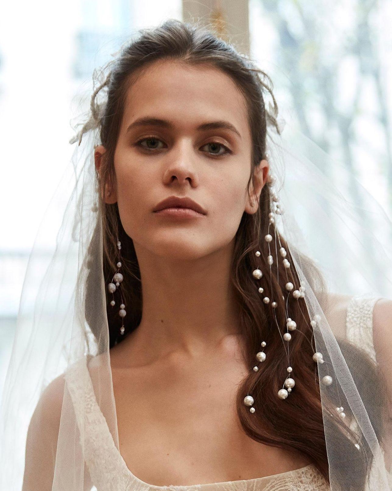 新娘,筆記,髮飾,頭飾,氣質,珍珠,髮型