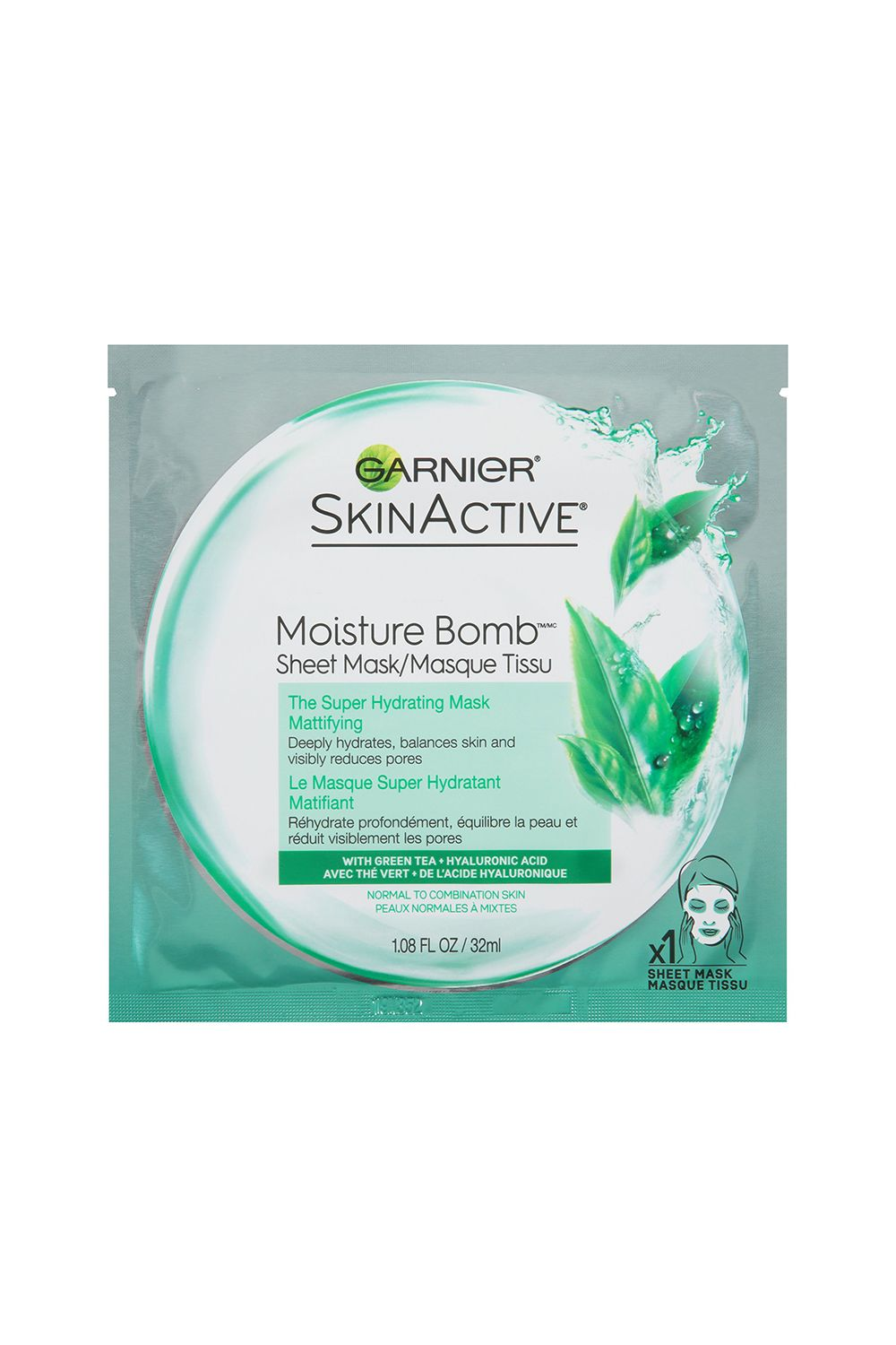 Garnier SkinActive Moisture Bomb The Super Hydrating Mask Garnier SkinActive Moisture Bomb The Super Hydrating Mask, $4 SHOP IT Calm your skin down from a long day at work with this green tea-infused, hydrating mask. Pro tip: wear it right before bed and wake up with glowing, extra-moisturized skin.
