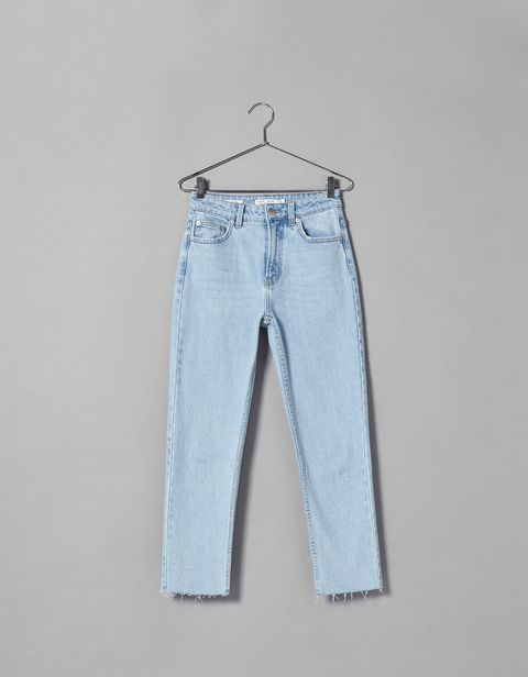Clothing, Denim, Jeans, White, Textile, Trousers, Pocket, Clothes hanger,