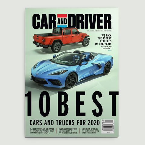 car and driver january 2020 cover