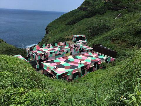 北海岸鼻頭角新景點聽濤營區聽濤cafe